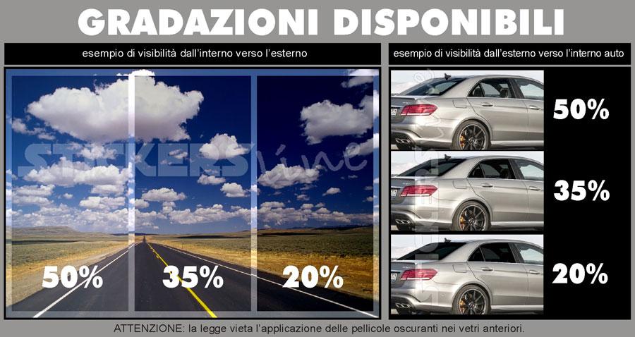 Pellicola oscurante vetri auto omologata cm 76x300 adesivo - Pellicole oscuranti per vetri casa ...